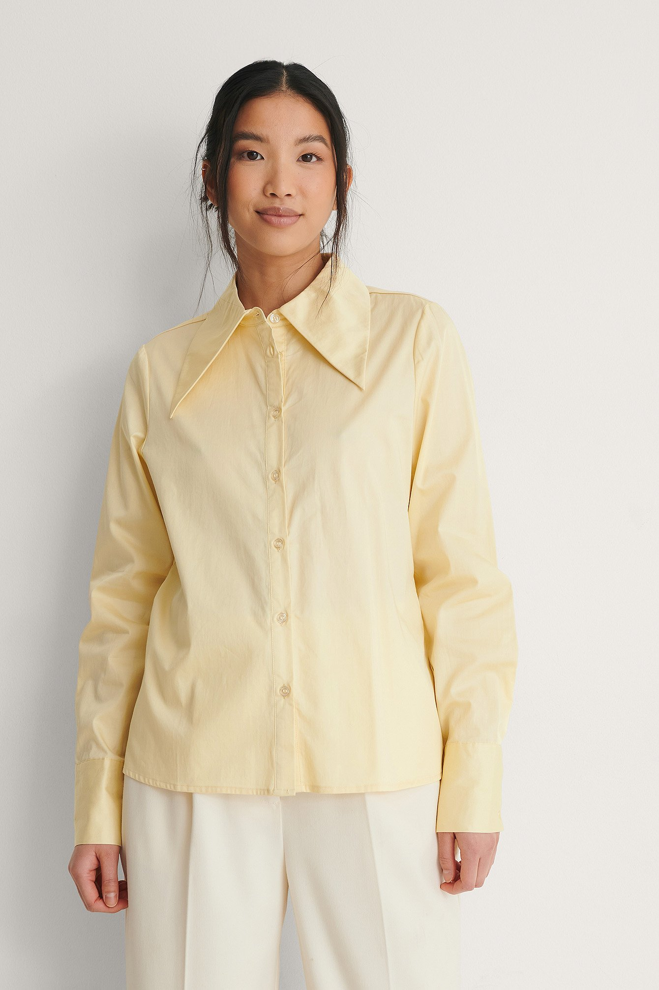 Yellow Wide Collar Shirt