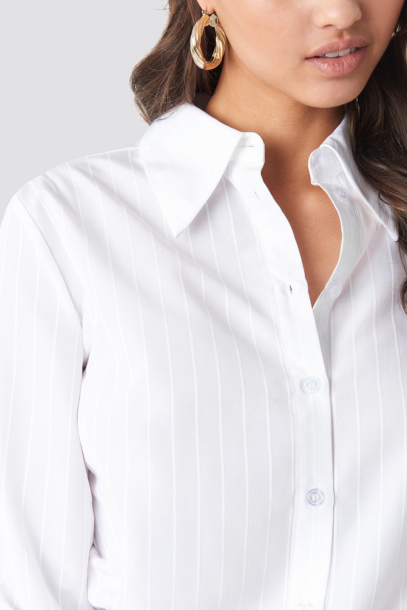 Wide Collar Striped Shirt NA-KD.COM