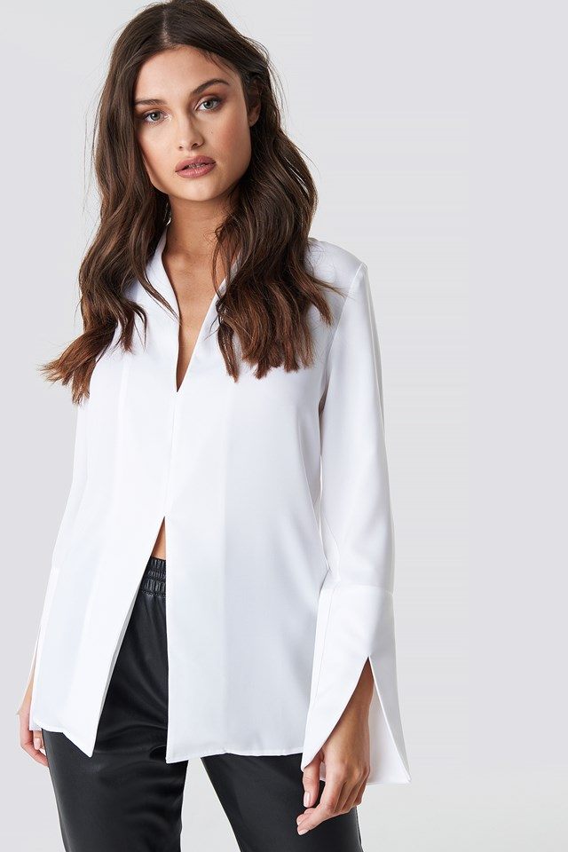 Wide Cuff Slit Detail Blouse NA-KD Party