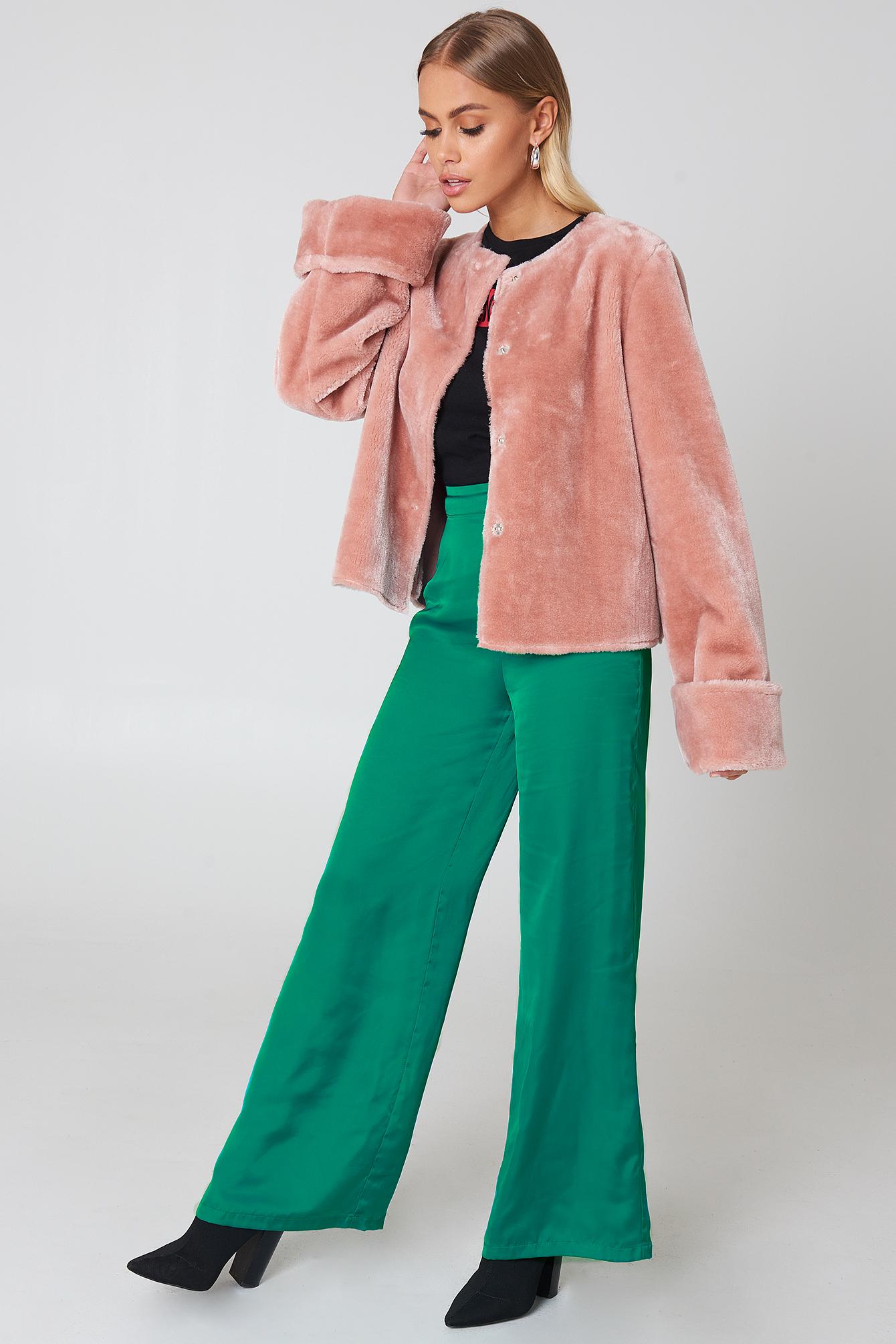 NA-KD Wide Cuff Faux Fur Jacket ycSLCTx