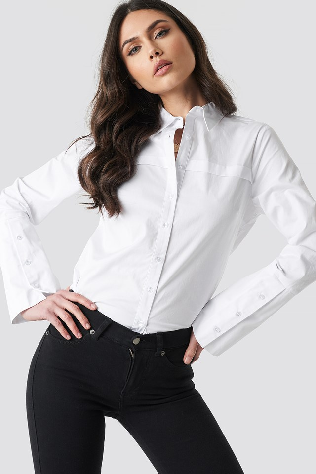 Wide Cuff Shirt White