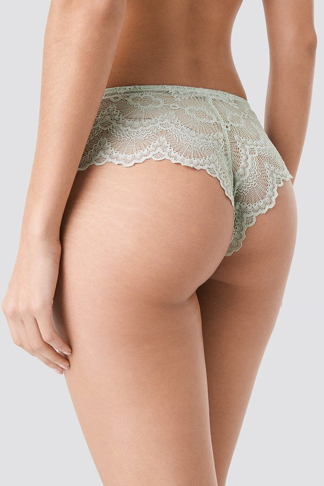 Wide Lace Hipster Dusty Green