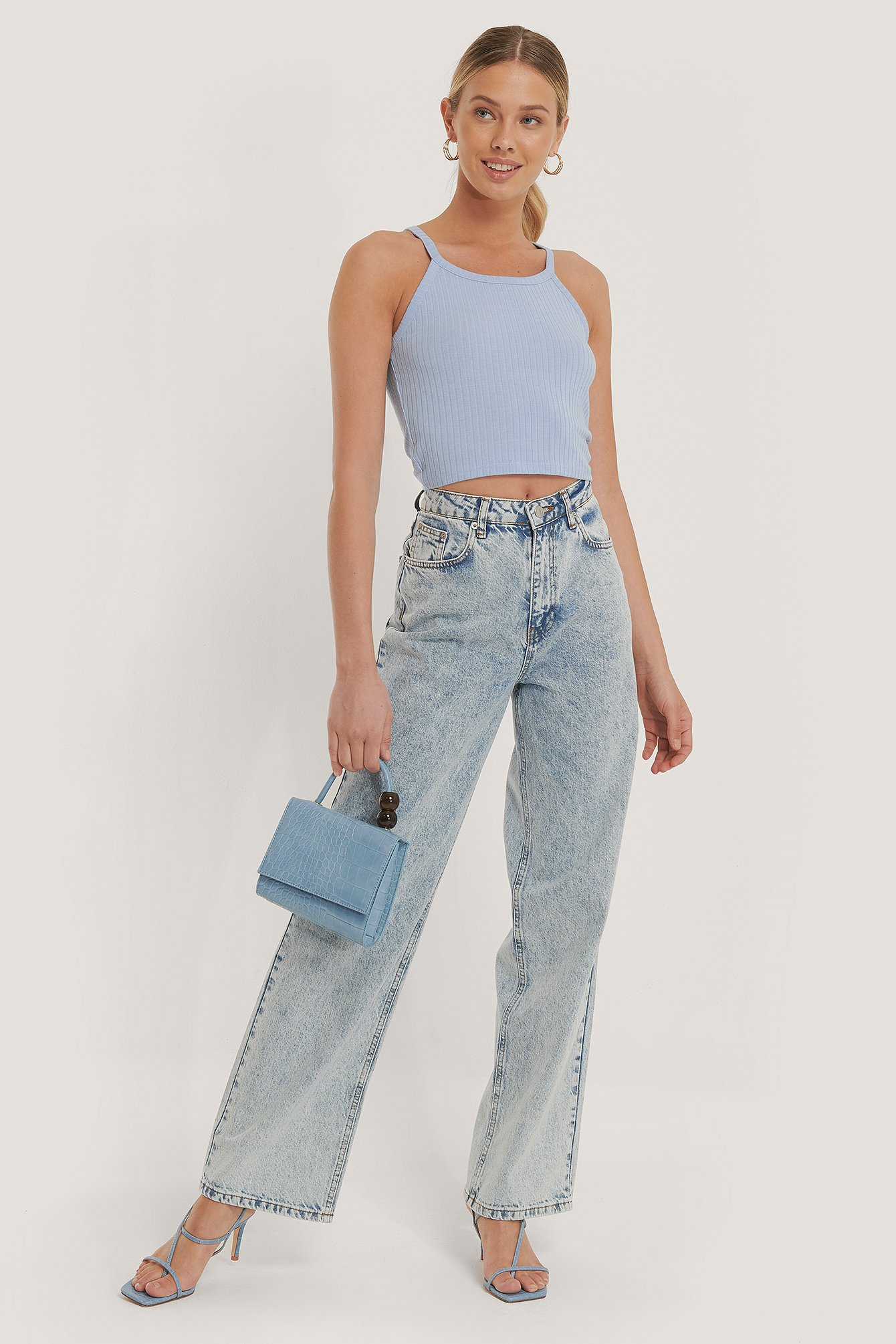 Light Blue Wide Leg Denim