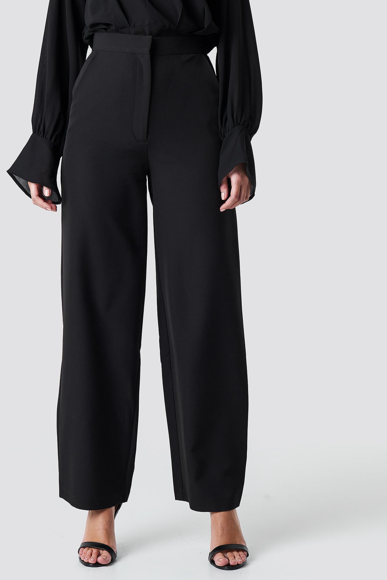 Wide Leg Flowy Pants NA-KD.COM