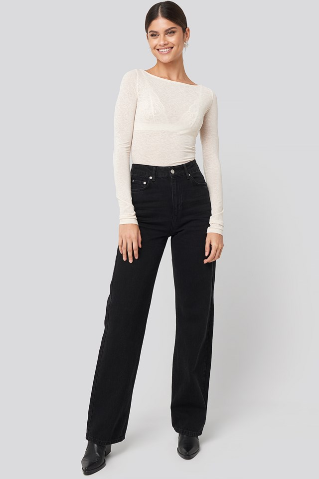 Wide Leg Highwaisted Denim NA-KD Trend