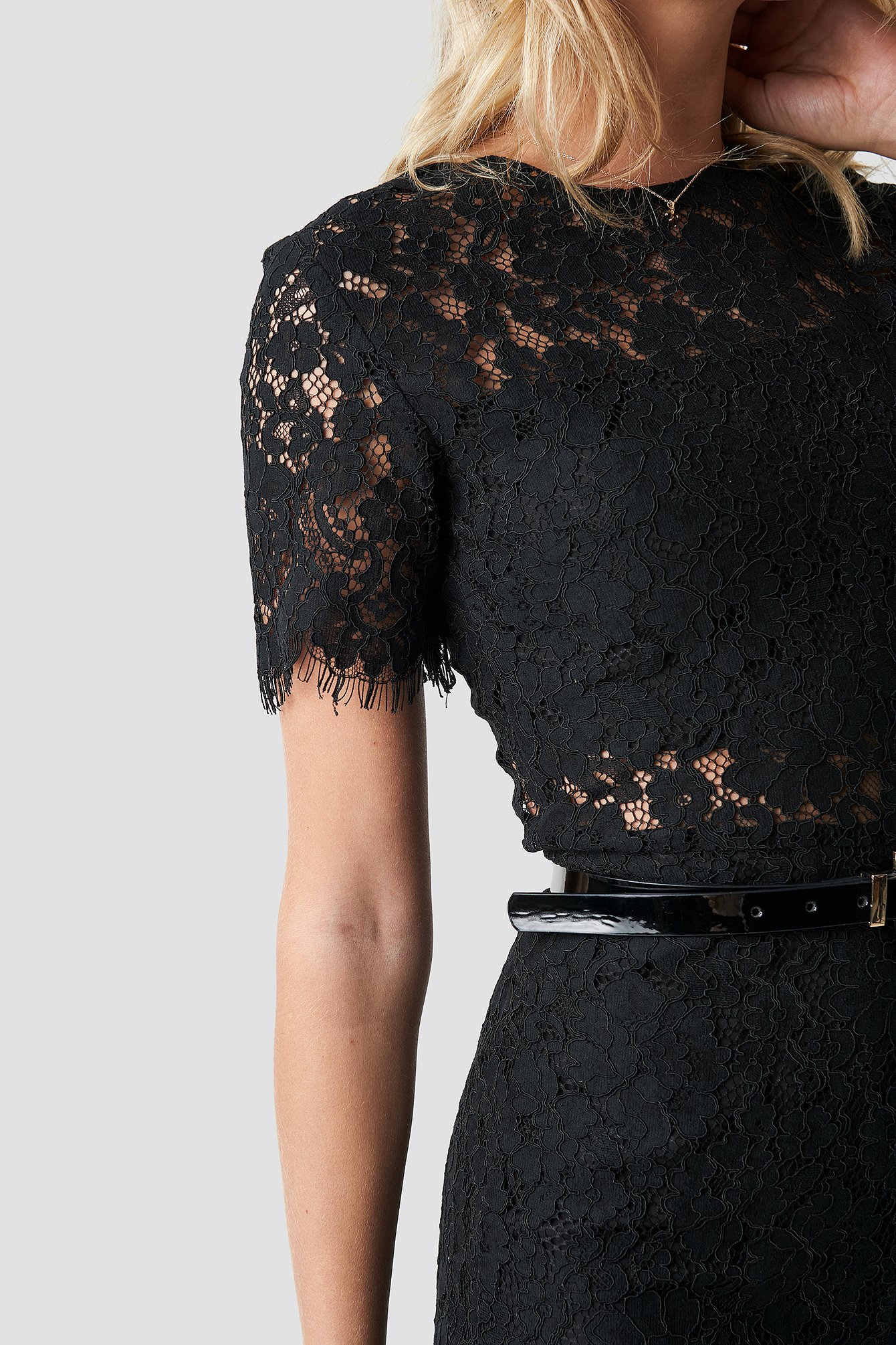 Wide Leg Lace Jumpsuit NA-KD.COM