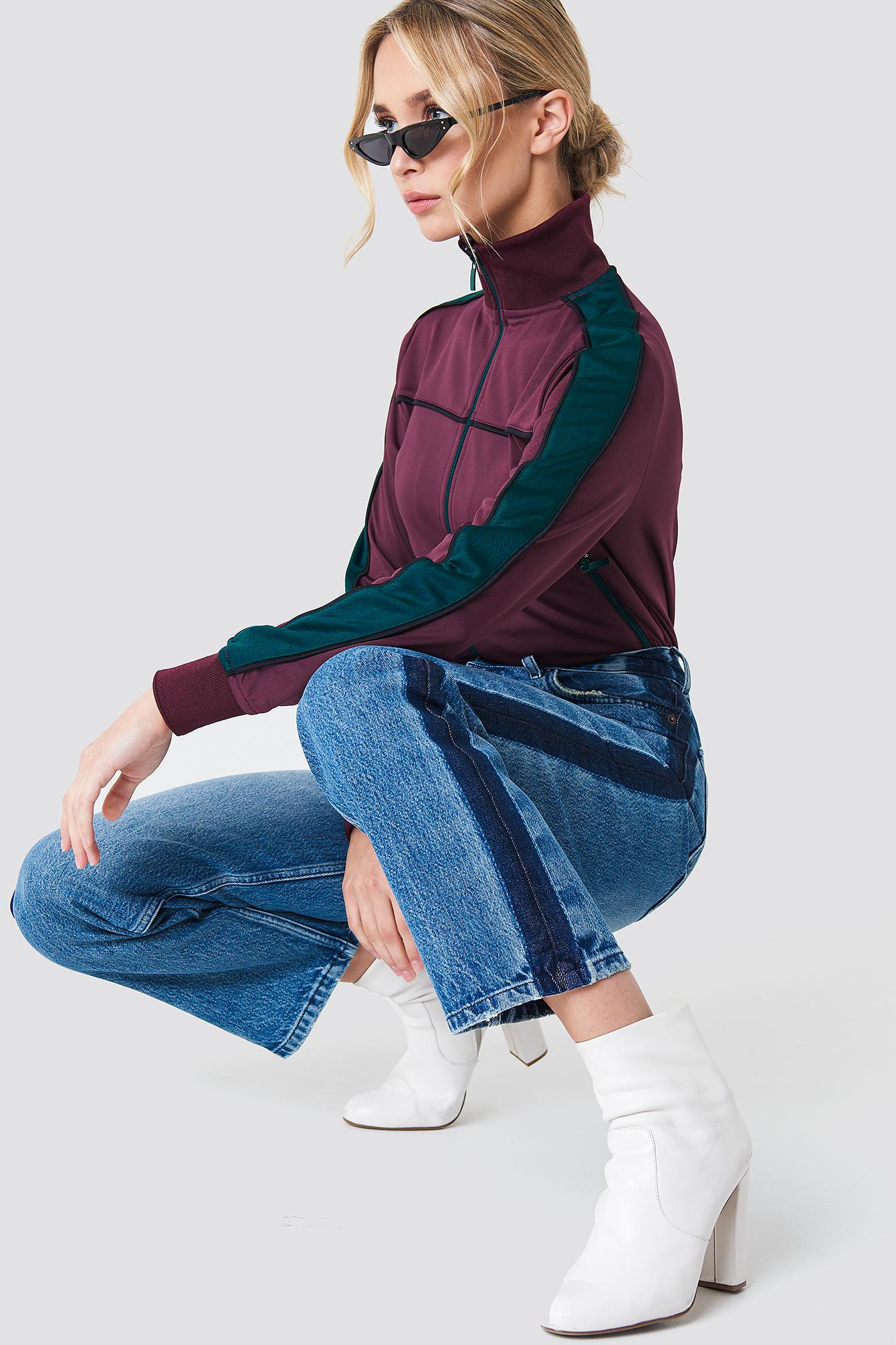 Wide Leg Side Panel Jeans NA-KD.COM