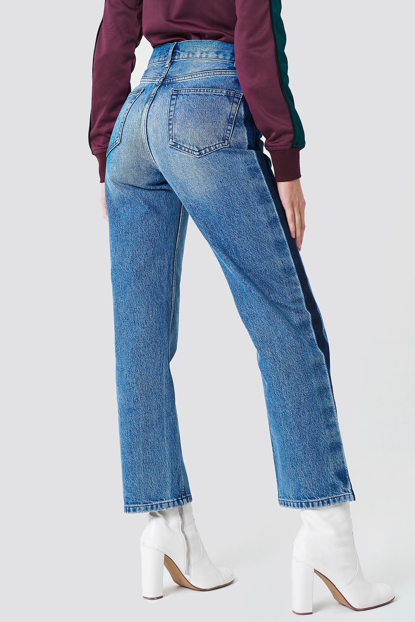 Jeansy z szerokimi nogawkami NA-KD.COM