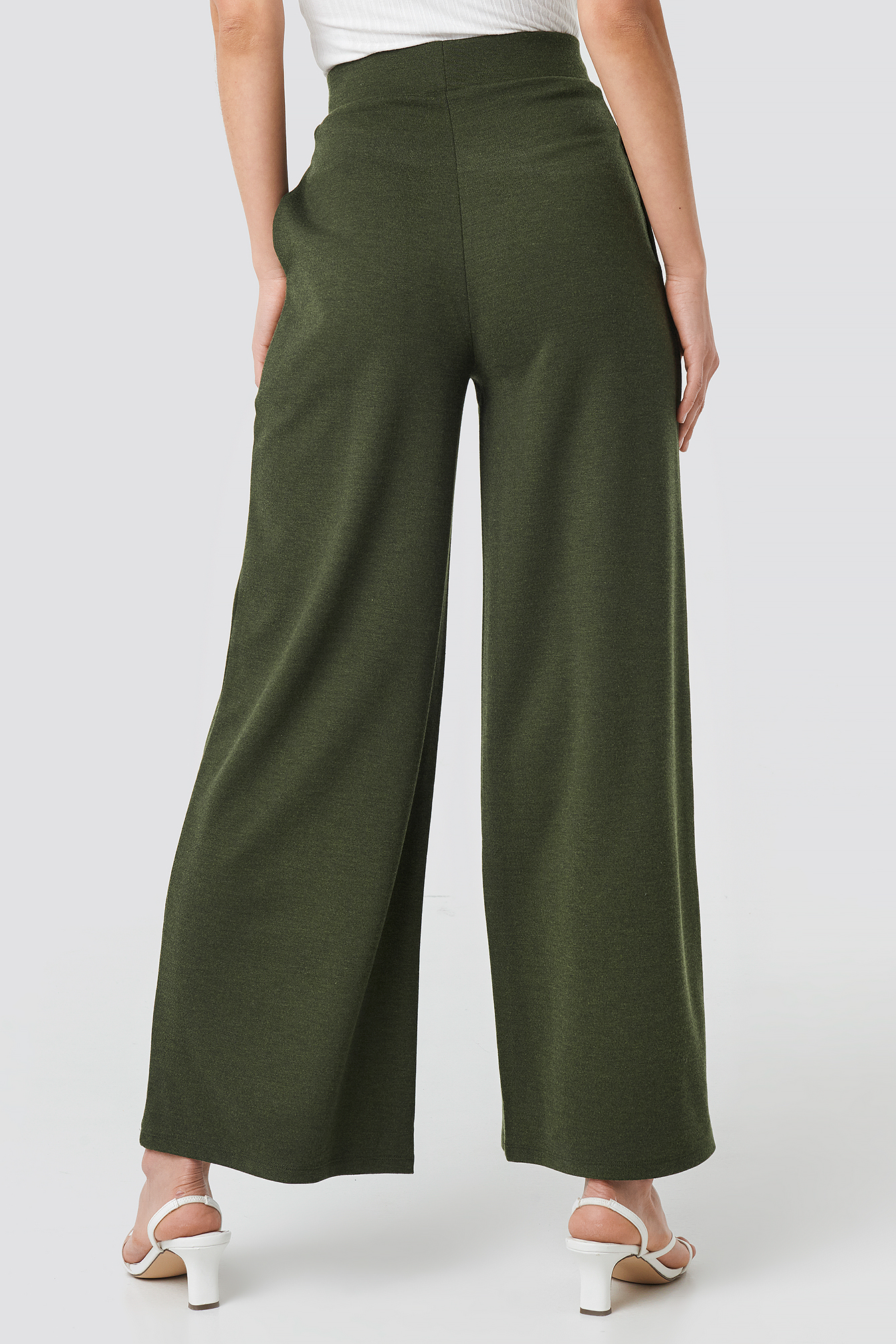 Wide Leg Pleated Trousers NA-KD.COM