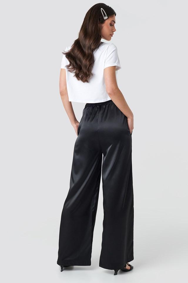 Wide Leg Satin Trousers NA-KD.COM