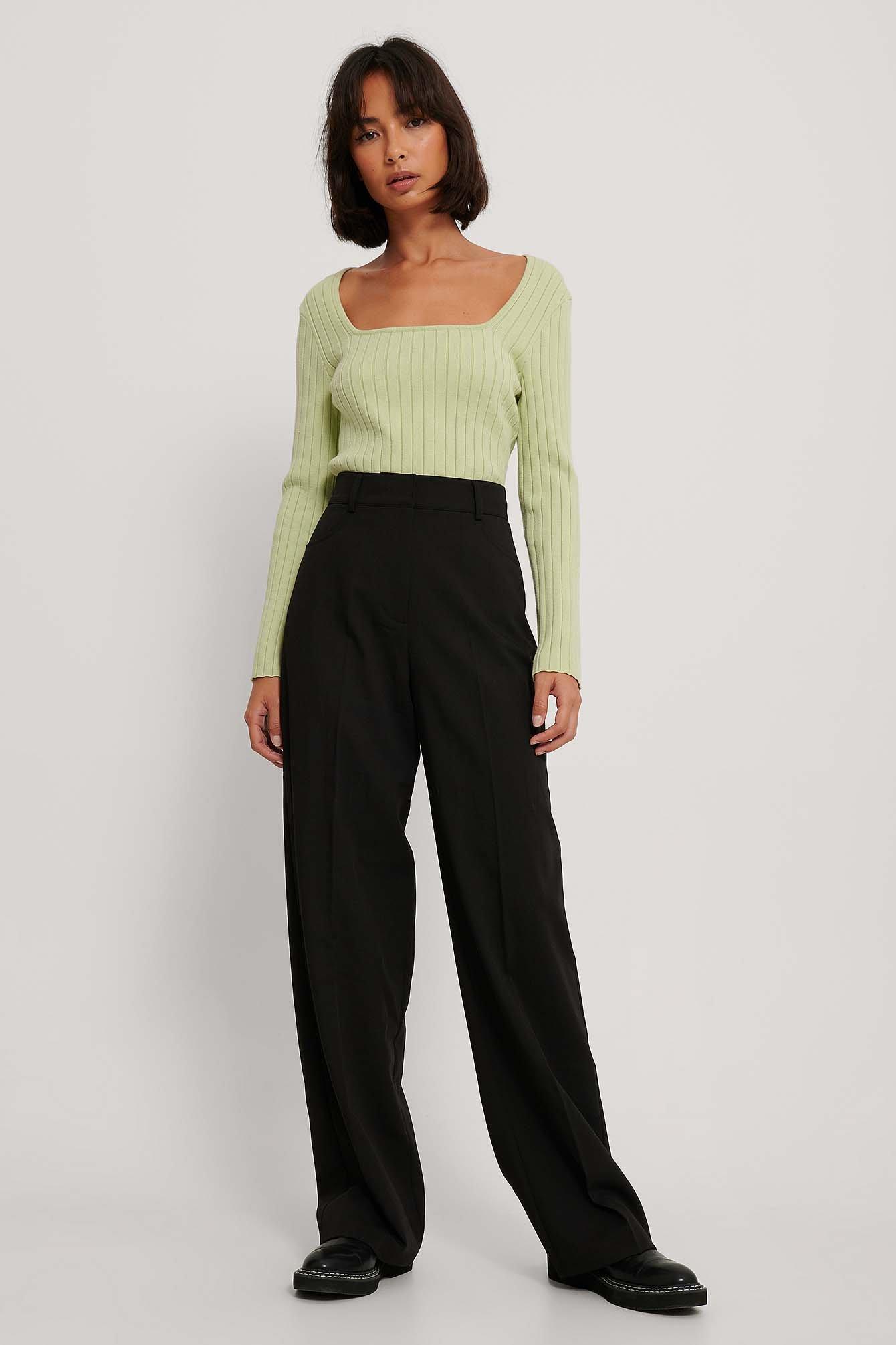 na-kd trend -  Anzughose Mit Weiten Beinen - Black