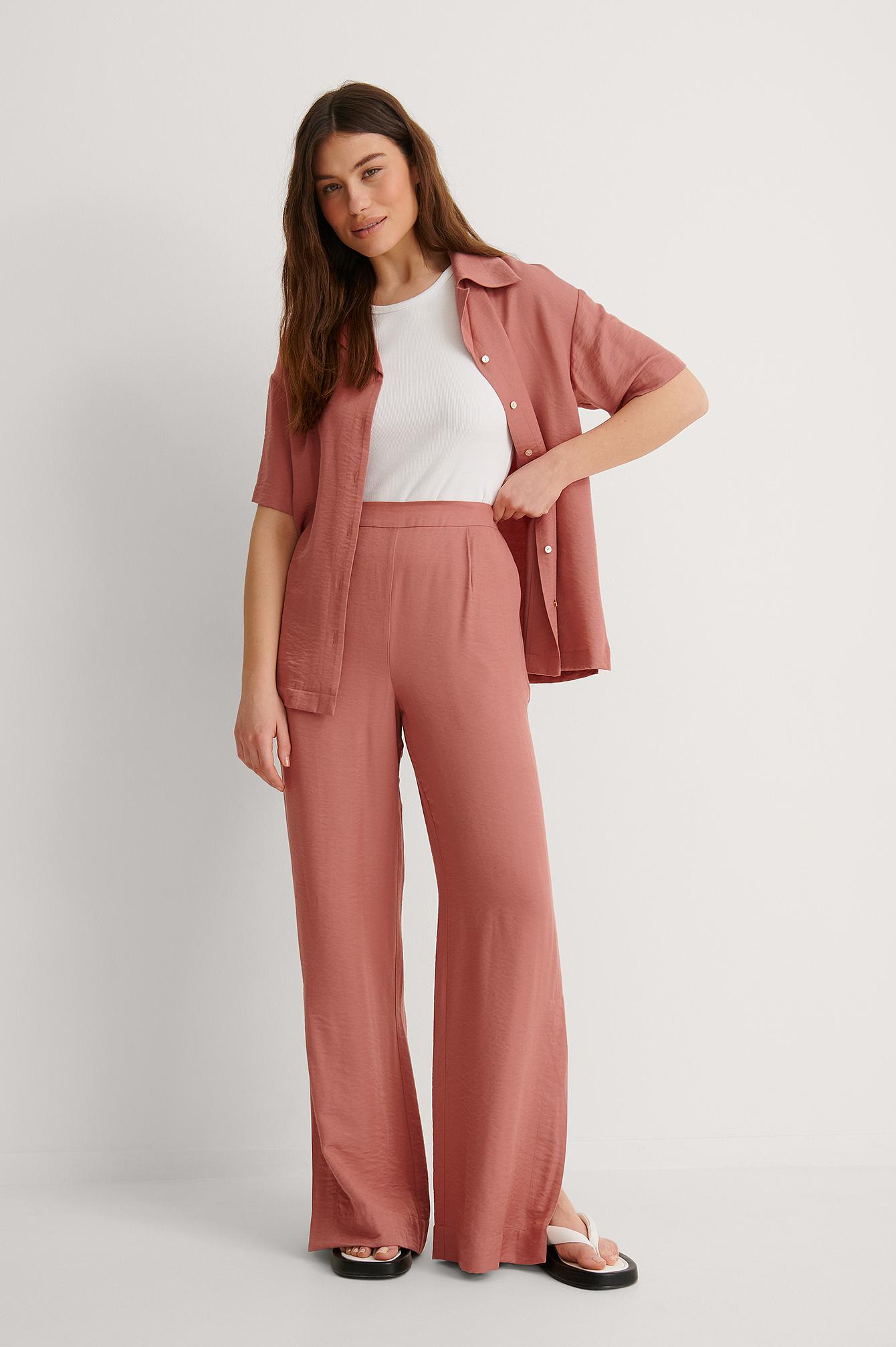 na-kd reborn -  Anzughose Mit Weiten Beinen - Pink