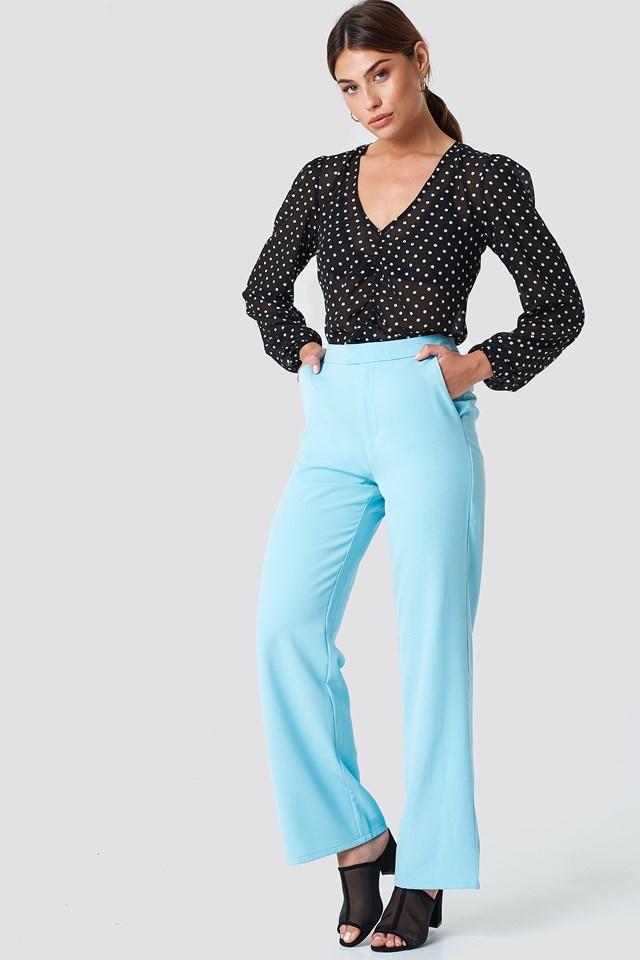 Wide Leg Tailored Pants NA-KD.COM