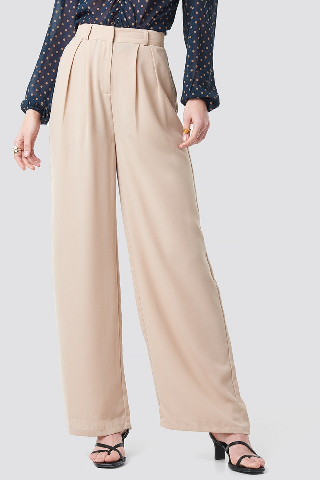 Wide Pants Beige