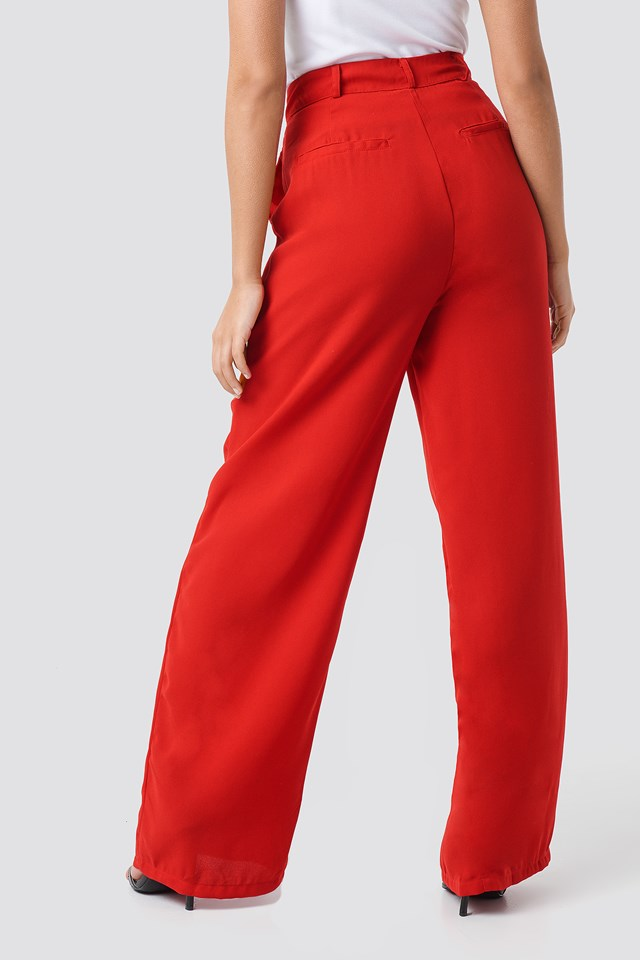 Wide Pants Red