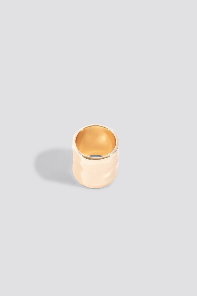 Wide Pinky Ring Gold