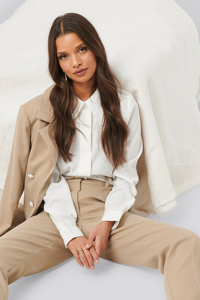 Wide Placket Shirt White