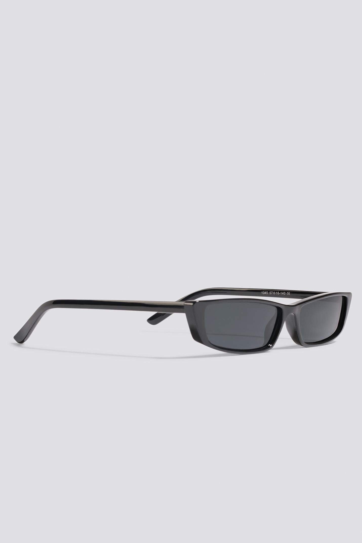 NA-KD Accessories Wide Rectangle Sunglasses - White kmFLcnPs