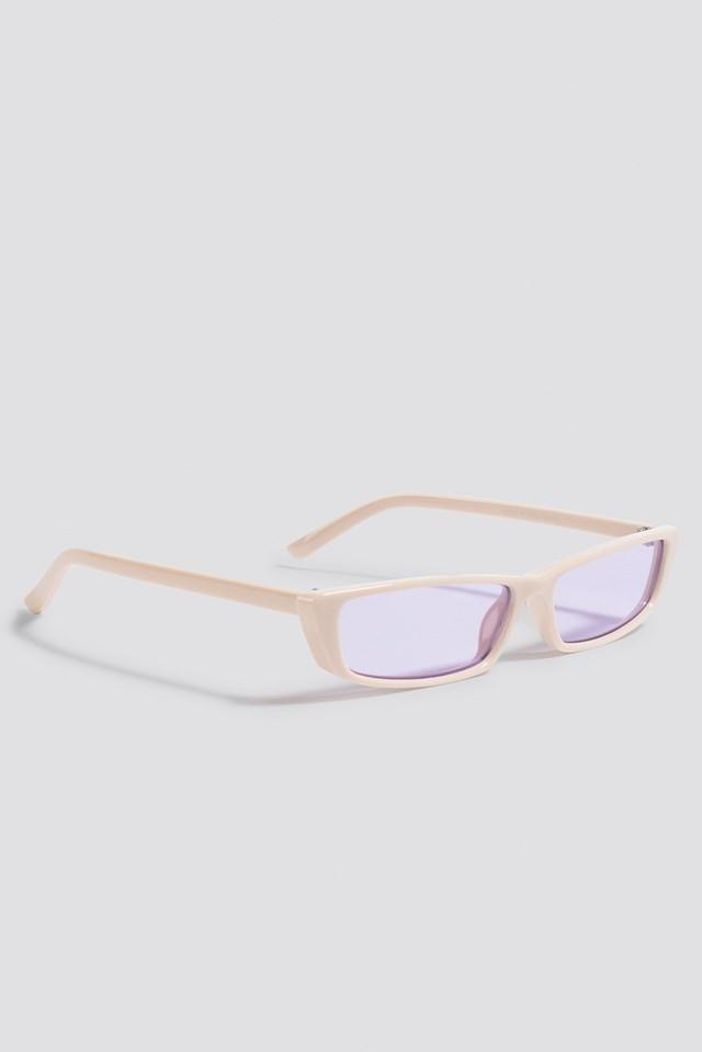 Wide Rectangle Sunglasses Purple