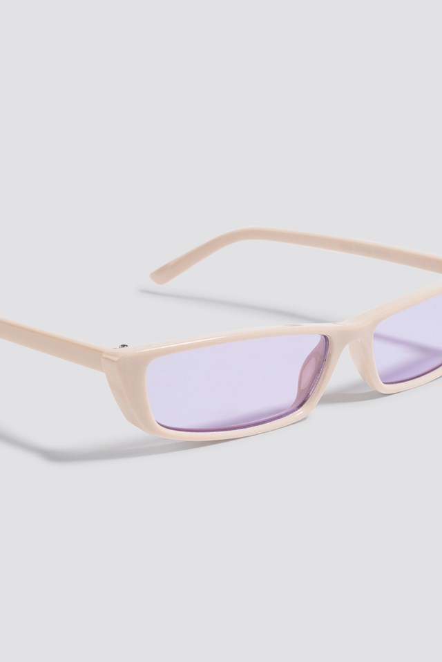 Wide Rectangle Sunglasses Purple