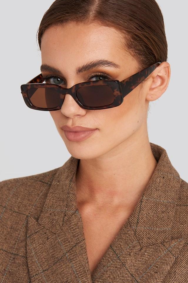 Wide Retro Look Sunglasses Tortoise