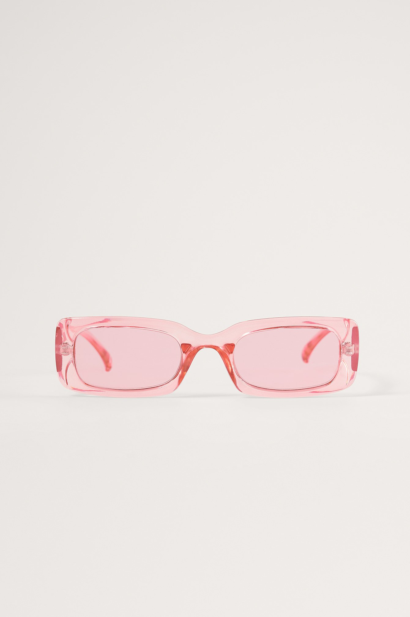 Pink Wide Retro Look Sunglasses