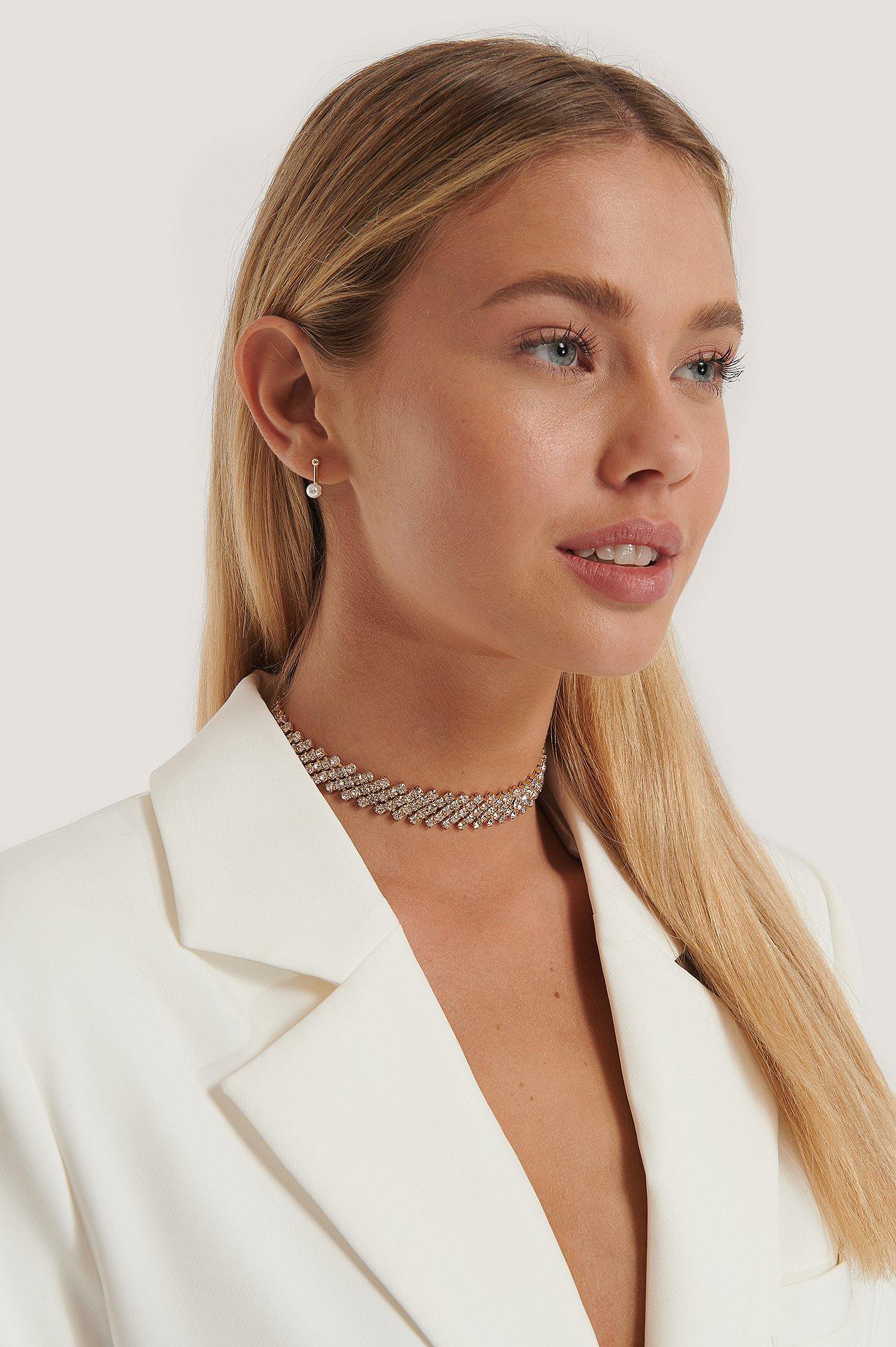 NA-KD Accessories Strassbesetztes Halsband - Gold   Schmuck > Halsketten > Halsbänder   NA-KD Accessories