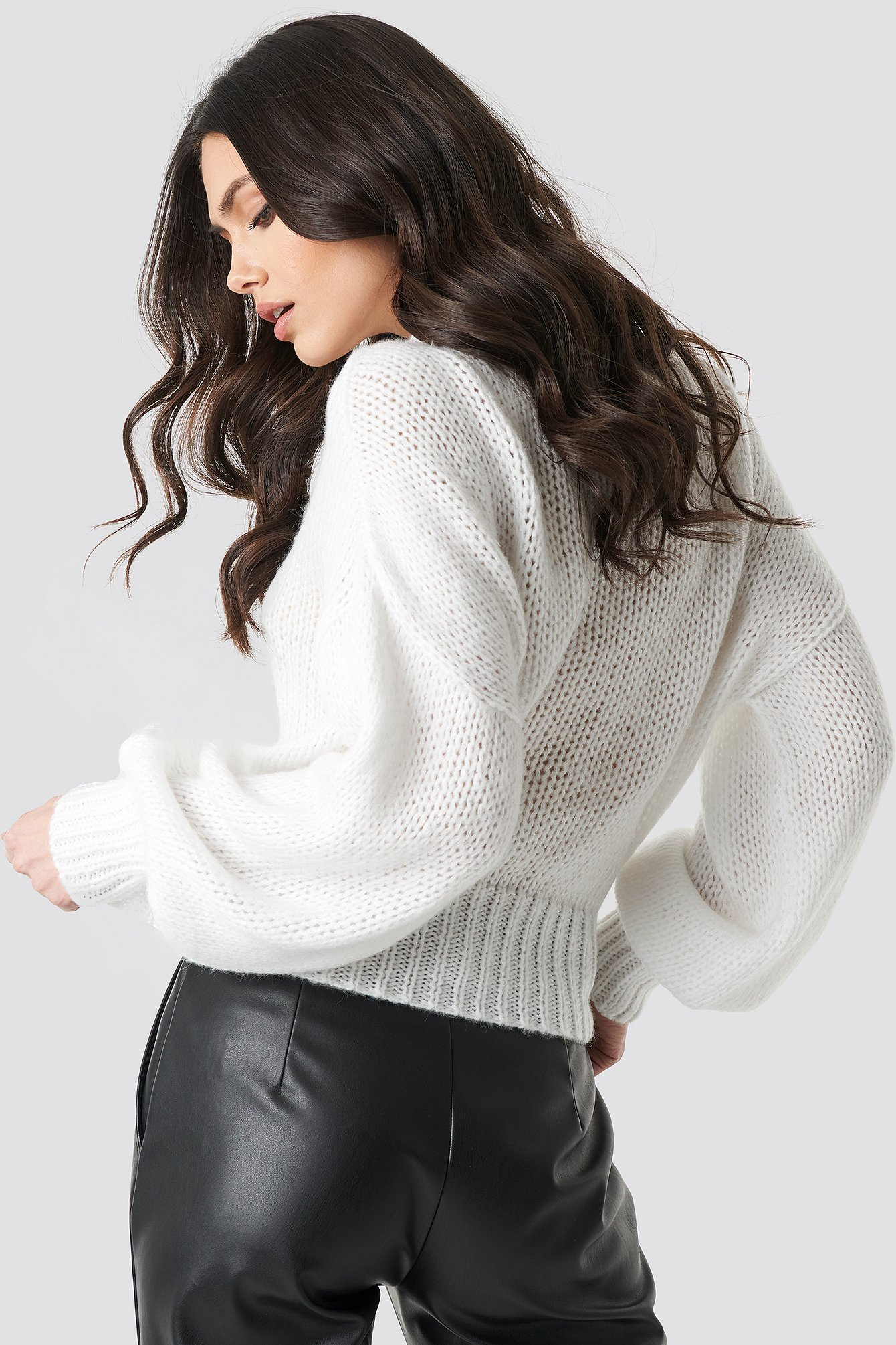 Wide Rib Short Knitted Sweater NA-KD.COM