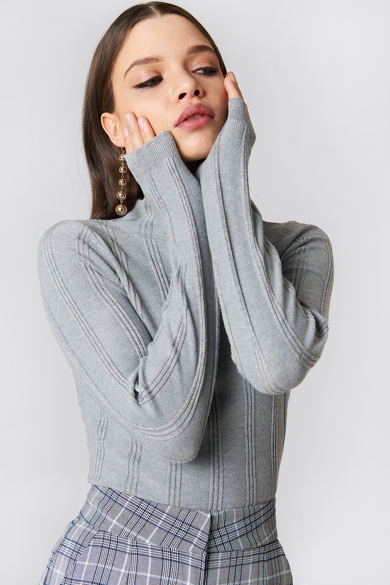 Wide Ribbed Knitted Sweater NA-KD.COM