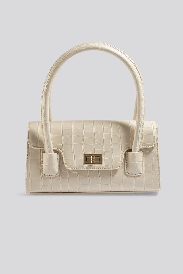 Wide Short Shoulder Bag Offwhite