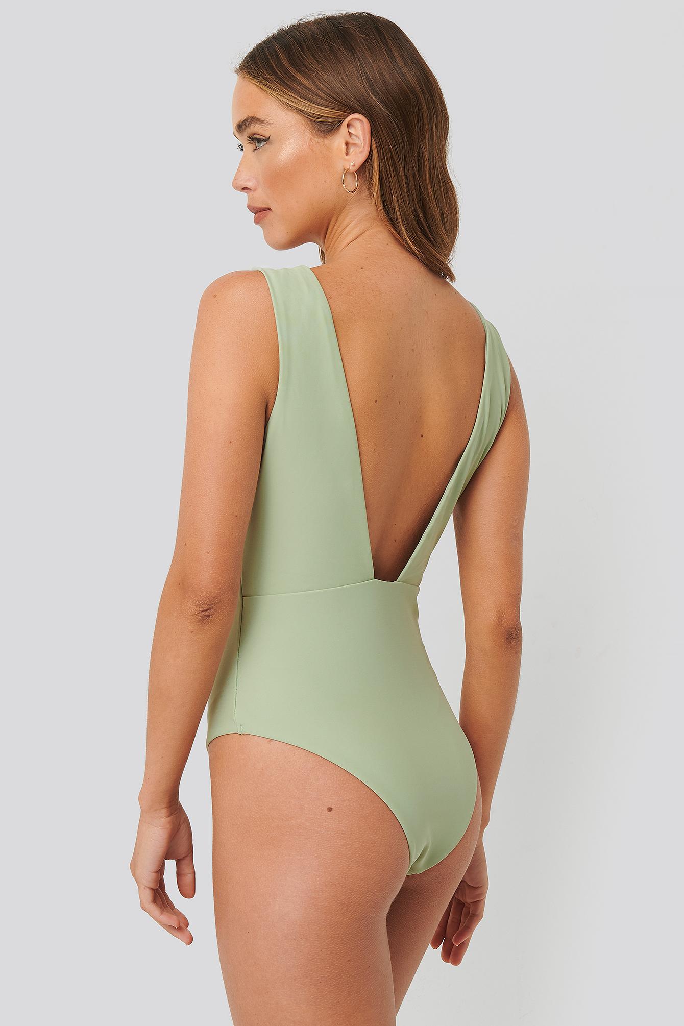 NA-KD Swimwear Badedragt - Green