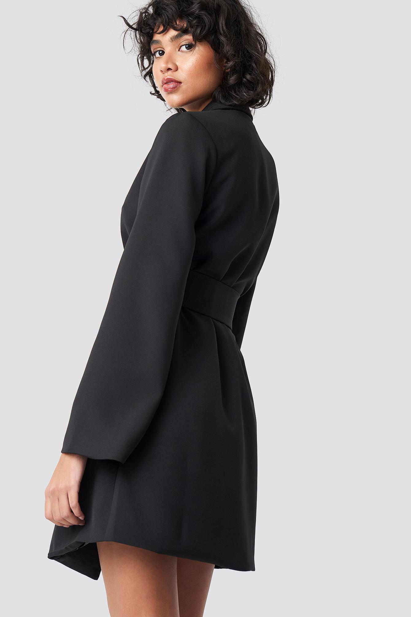 Wide Sleeve Belted Blazer Dress NA-KD.COM