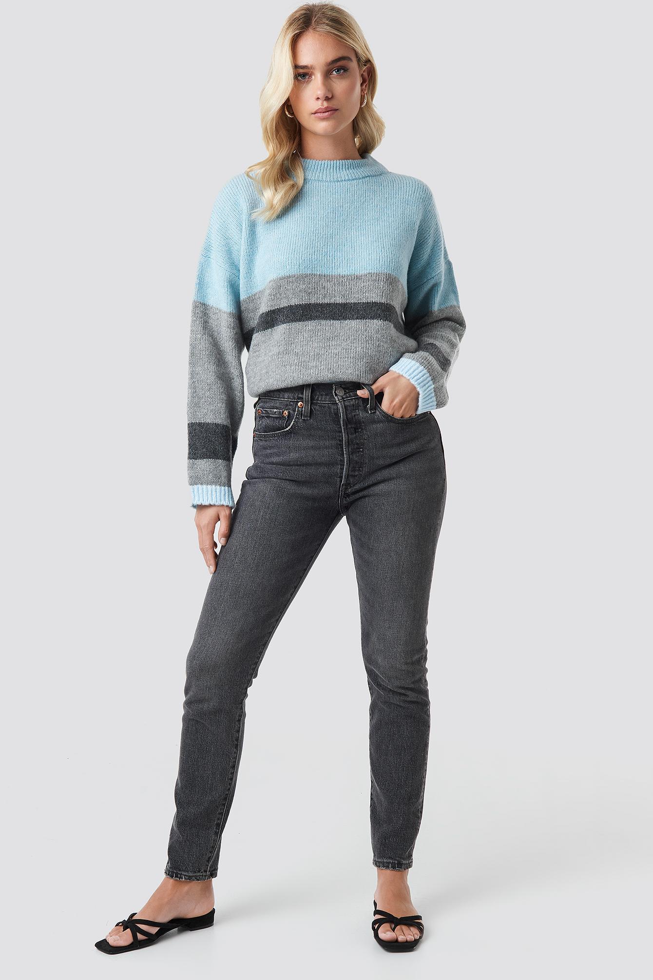 Wide Sleeve Blocked Colour Sweater NA-KD.COM