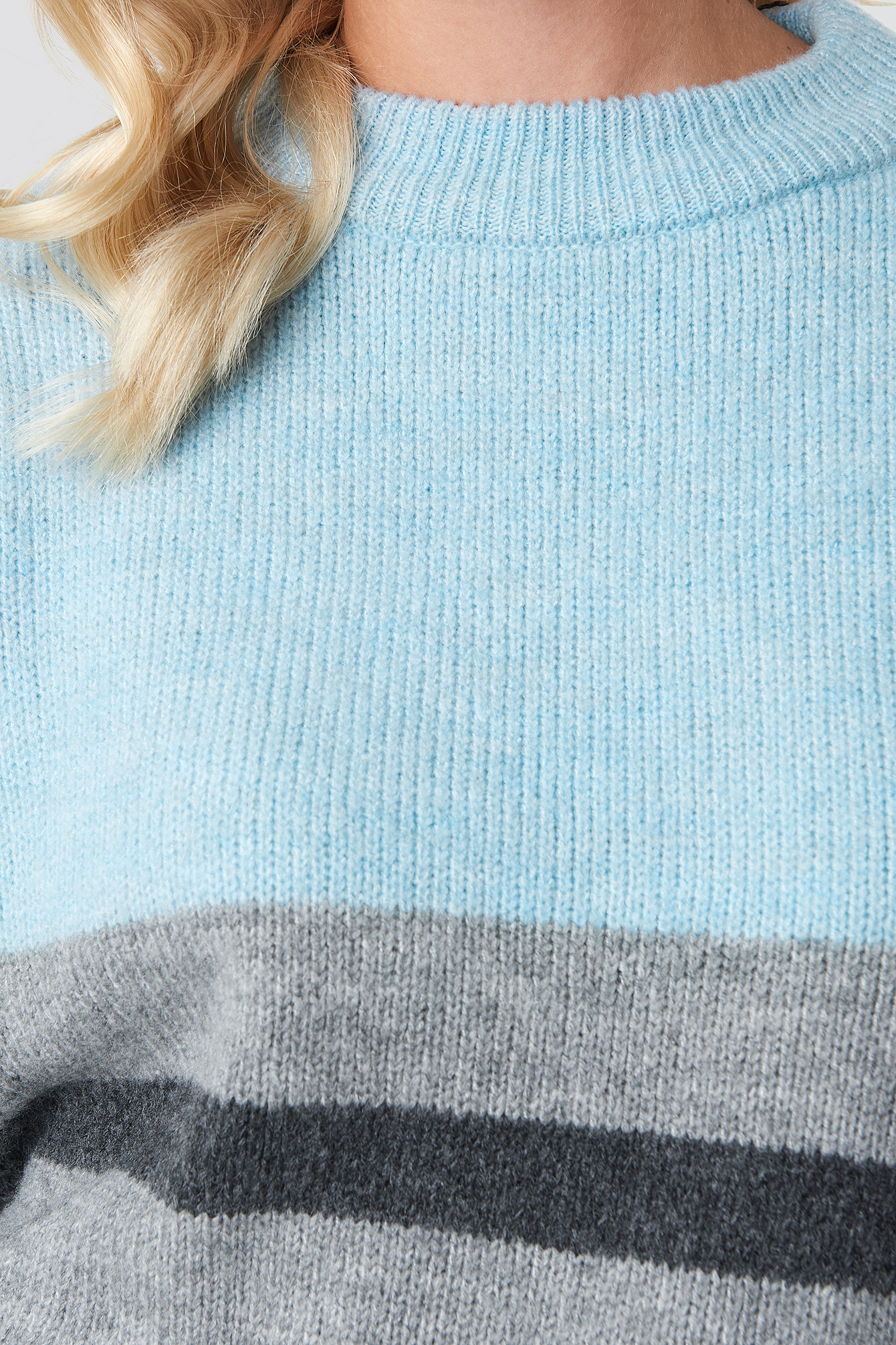 Wide Sleeve Blocked Colour Sweater NA-KD.COM