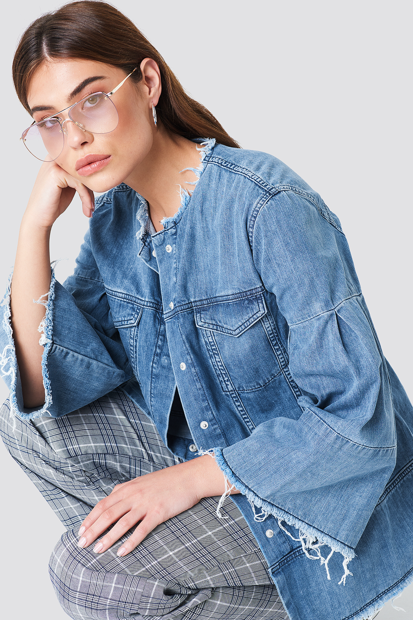 Wide Sleeve Denim Jacket NA-KD.COM