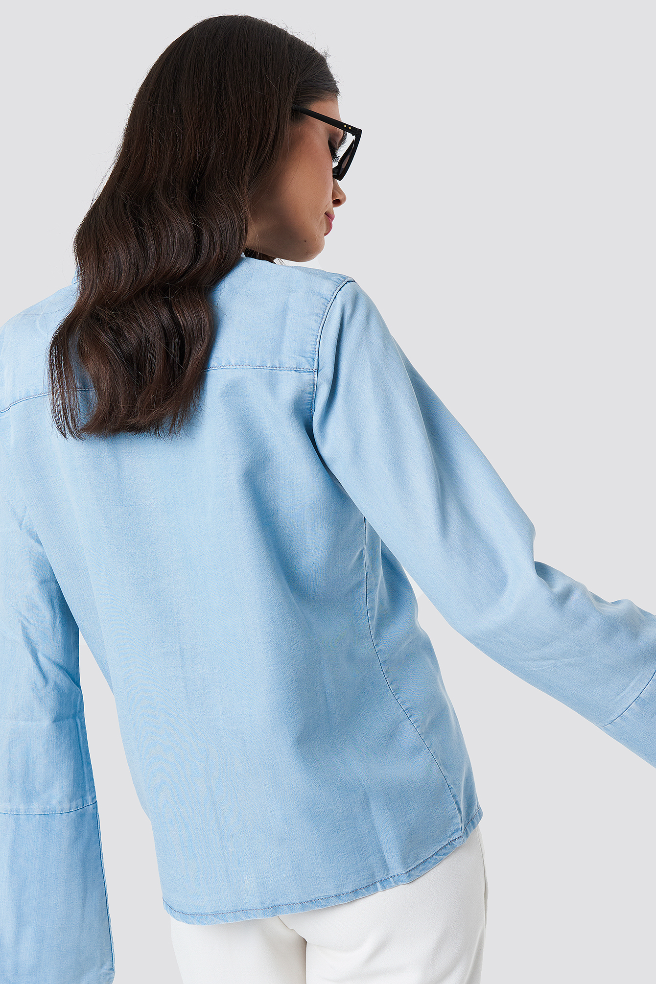 Wide Sleeve Denim Shirt NA-KD.COM