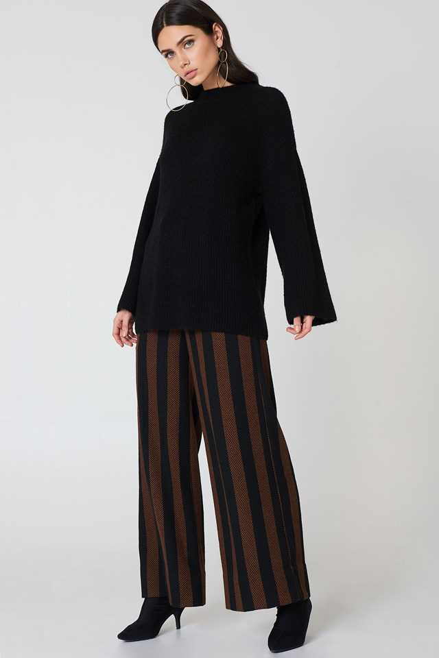 Wide Sleeve Knitted Sweater NA-KD.COM