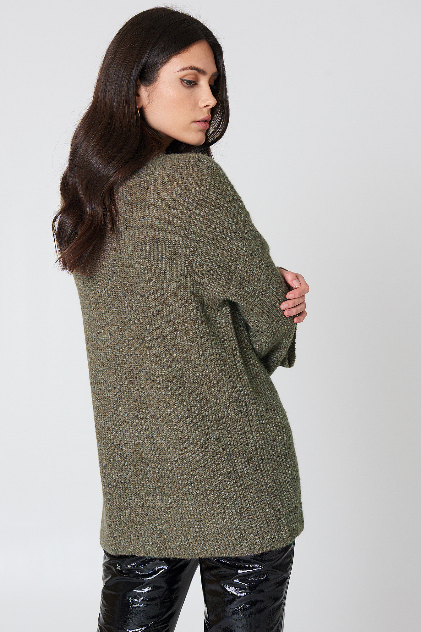 Wide Sleeve Knitted Sweater NA-KD.COM