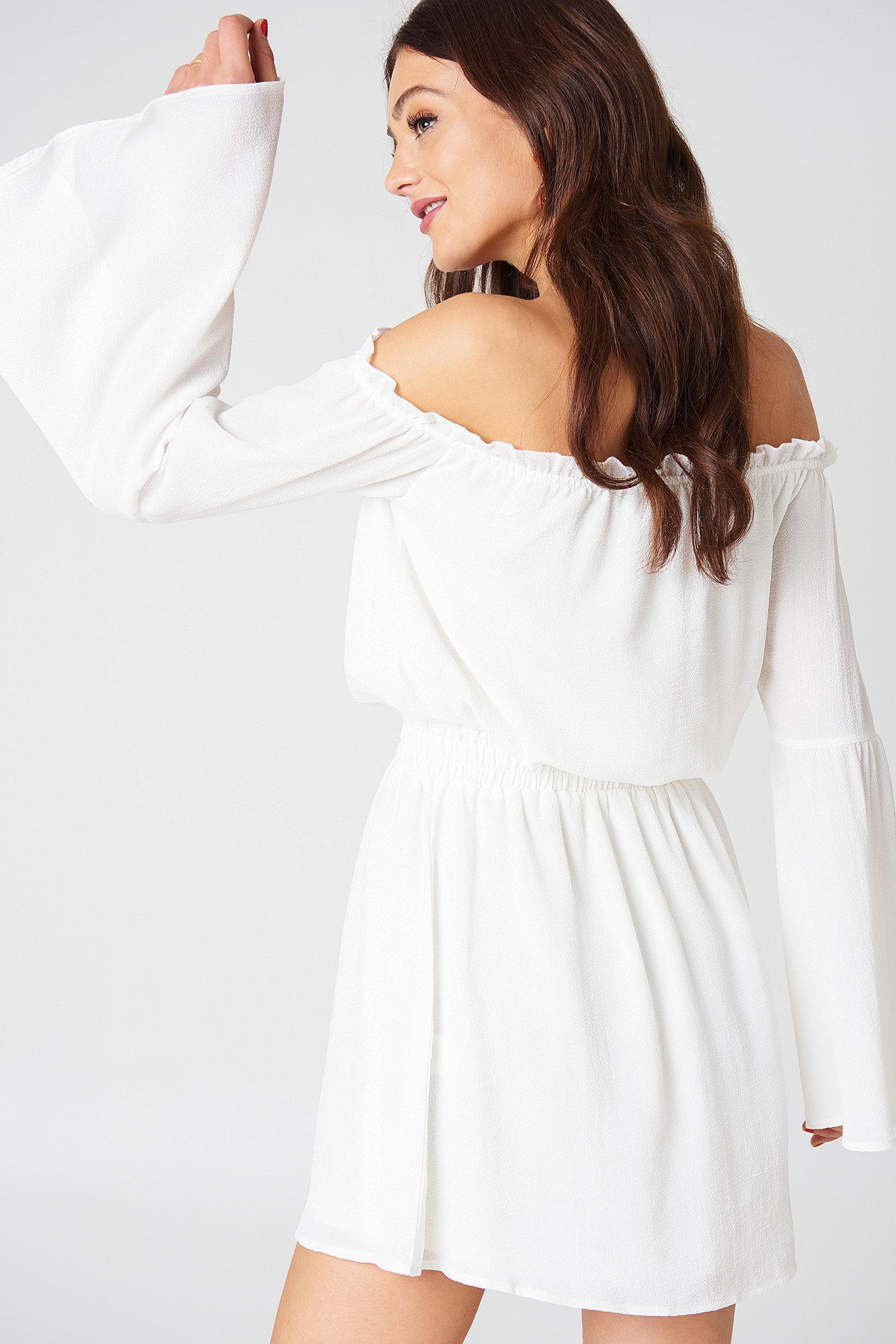 Wide Sleeve Off Shoulder Dress NA-KD.COM