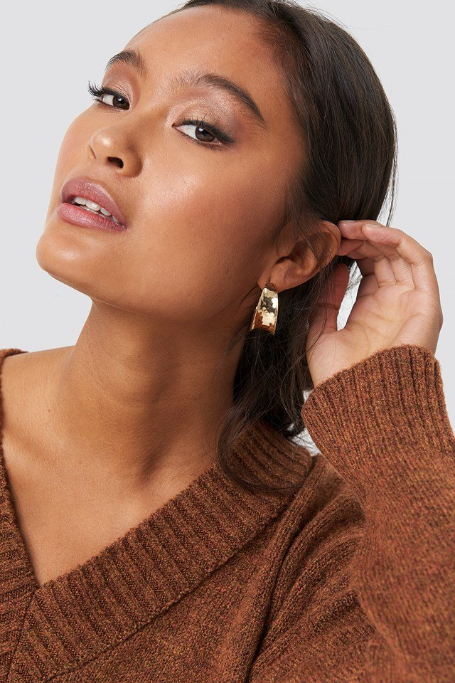 Wide Small Hoop Earrings NA-KD Accessories