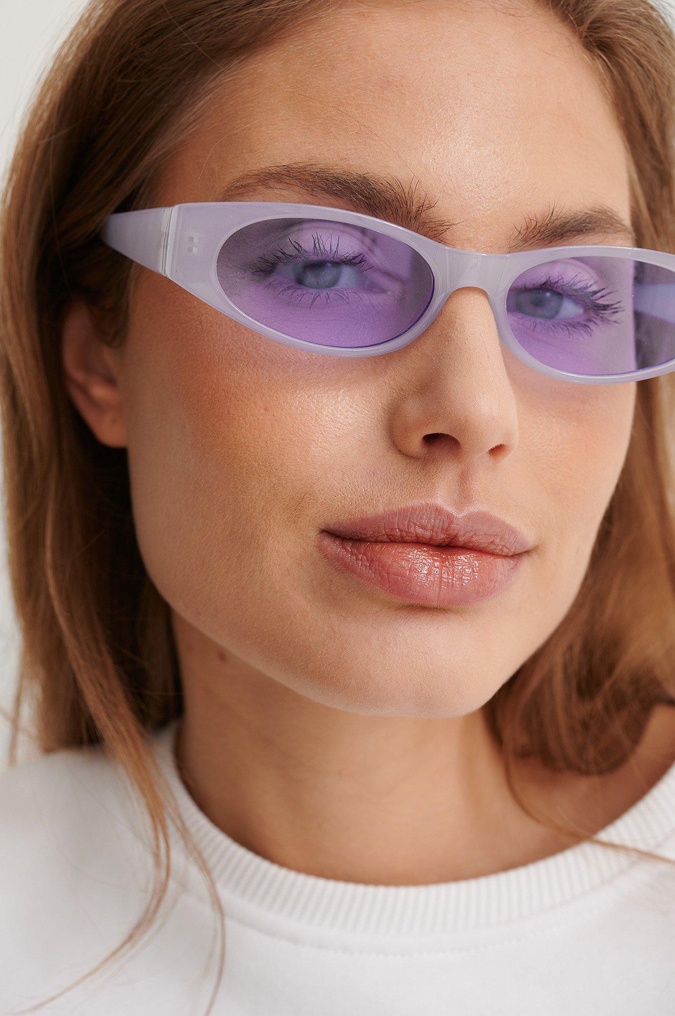 NA-KD Accessories Brett Solglasögon - Purple