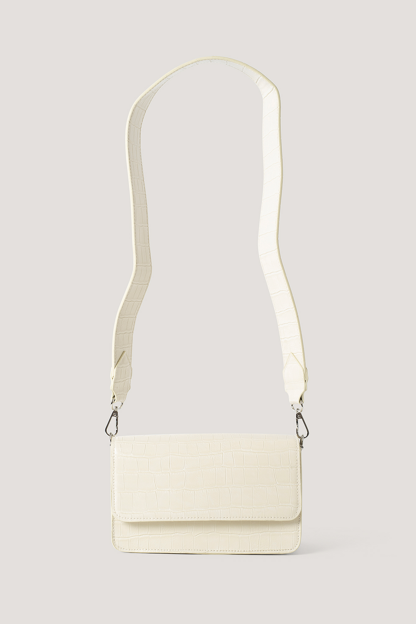 Natural Wide Strap Slim Crossbody Bag