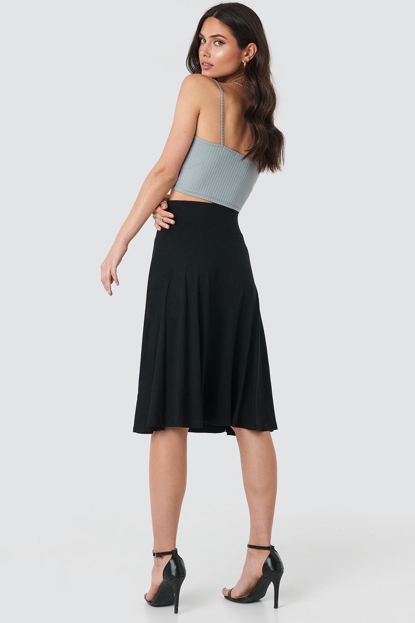 Wide Waistband Midi Skirt NA-KD.COM