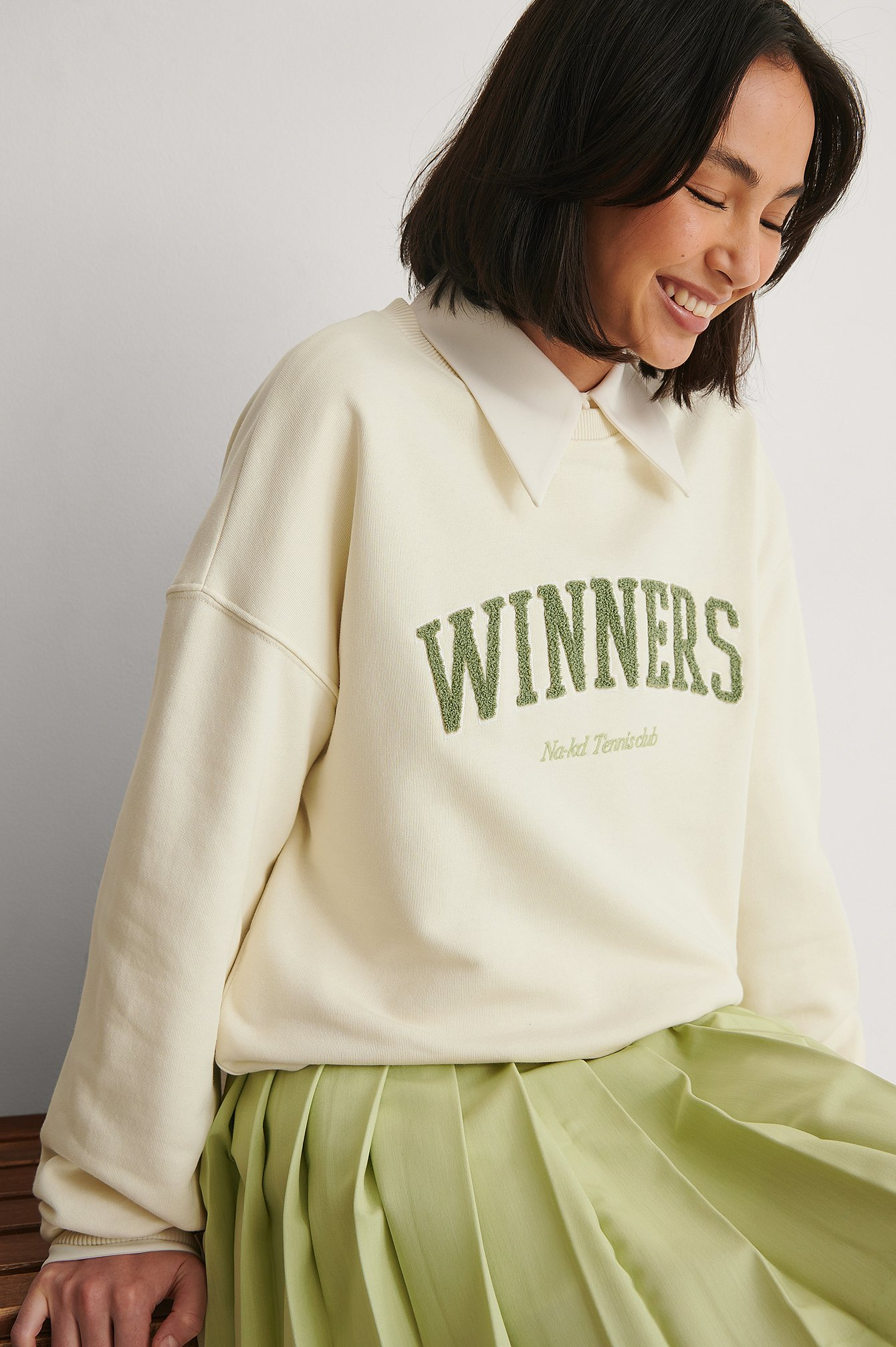 Off White Winners Printed Sweater