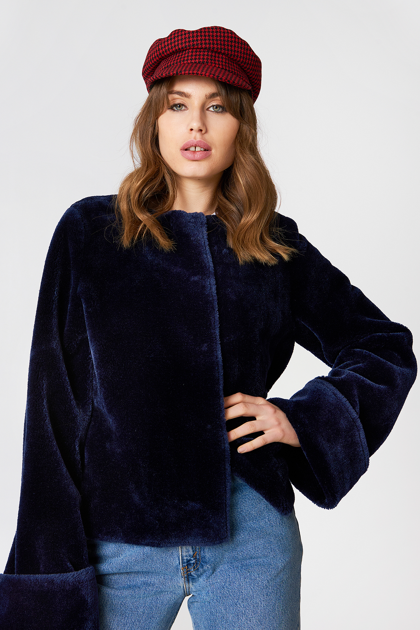 Wide Cuff Faux Fur Jacket NA-KD.COM