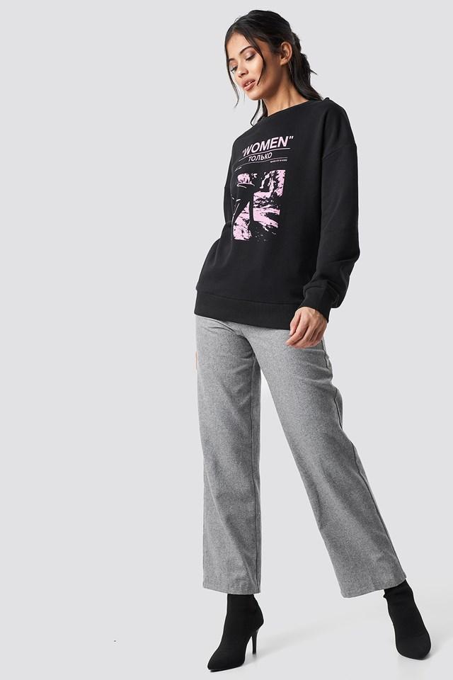 Women Only Oversized Sweatshirt NA-KD.COM