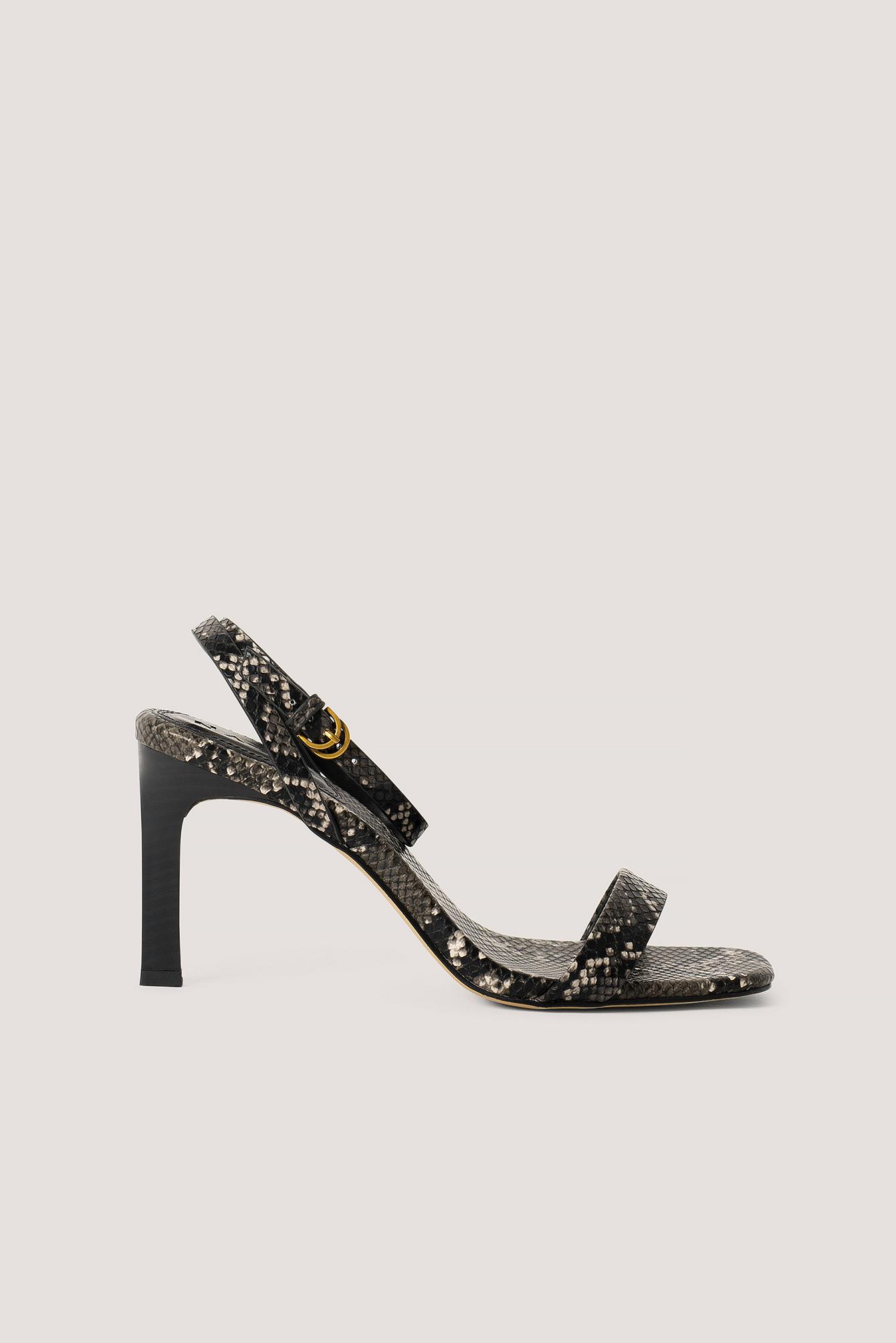NA-KD Shoes Stiletter Med Ankelrem - Black