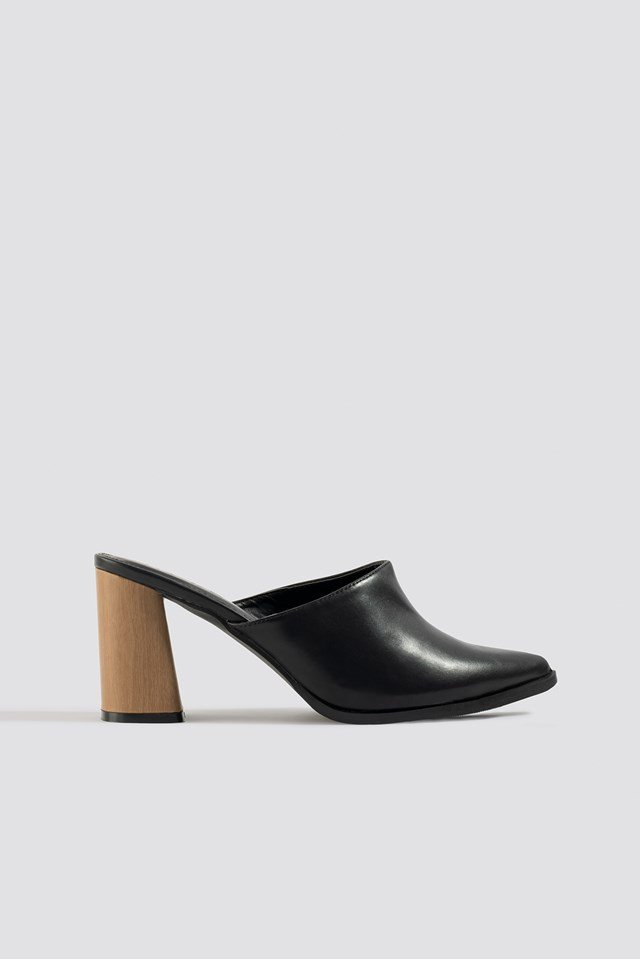 Wooden Heel Mules NA-KD Shoes