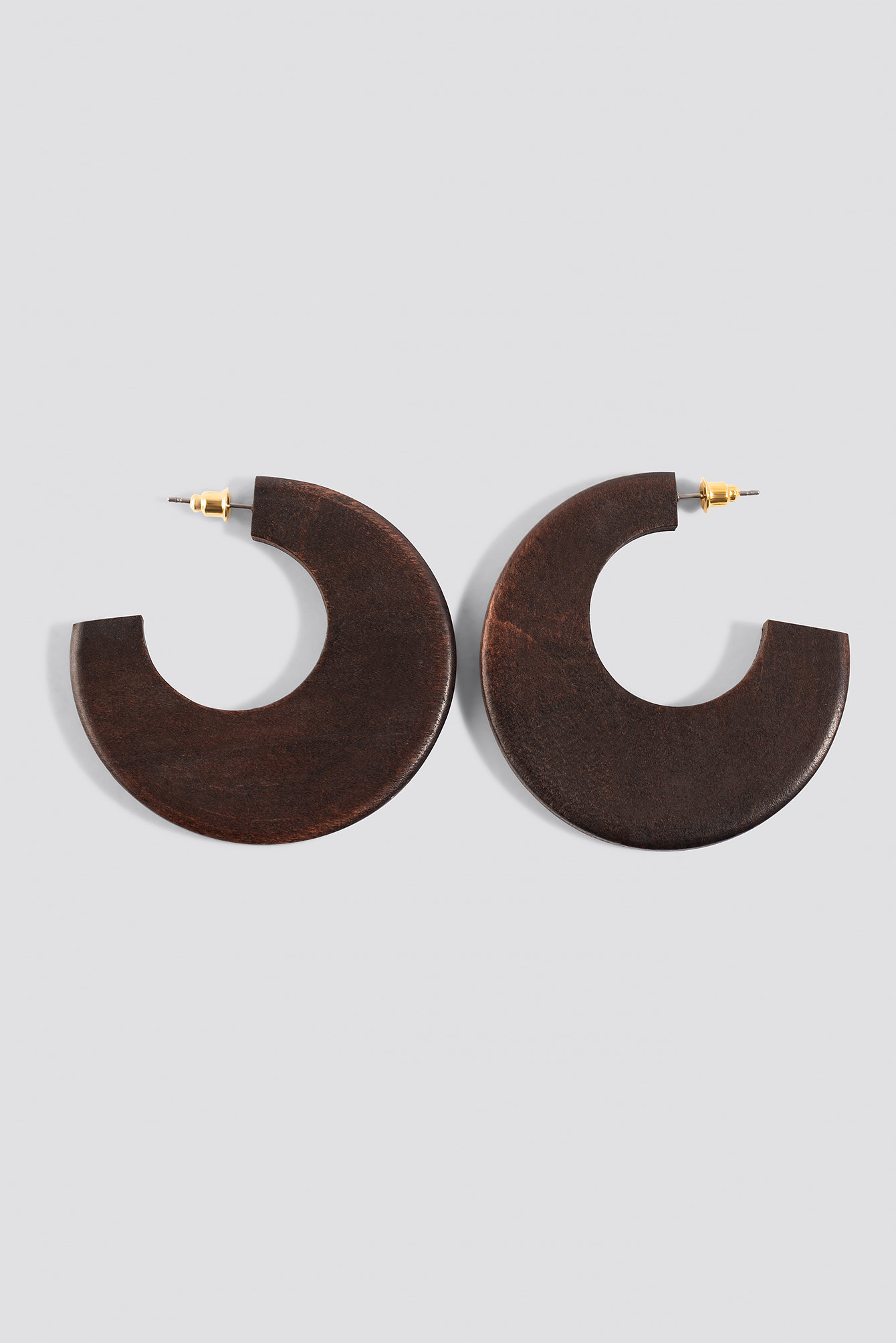 Round Wooden Open Hoops NA-KD.COM