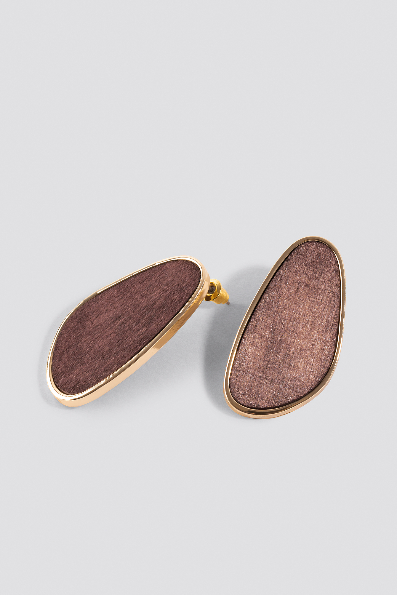 Wooden Oval Earstuds NA-KD.COM